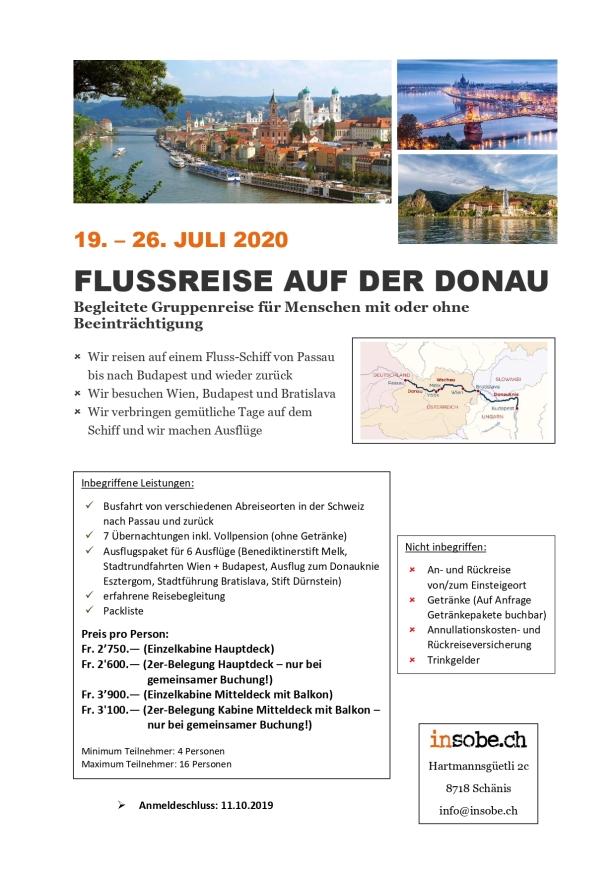 Flussreise Donau